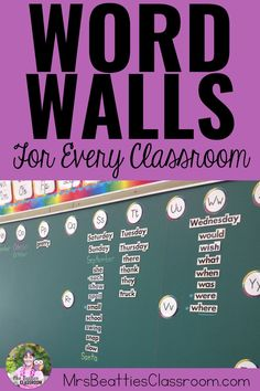 Word walls are a very important part of every elementary classroom! This is a round-up of ideas for making your word wall interactive and engaging - a word wall your students will actually use! Primary Classroom, Elementary Teacher, Classroom Resources, Classroom Ideas, Teaching Strategies, Teaching Writing, Word Wall Kindergarten, Reading Wall, Word Work Activities