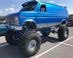 Lifted Ford Trucks, 4x4 Trucks, Cool Trucks, Chevy Trucks, Ambulance, Lifted Van, 4x4 Van, Ford Excursion, Camper