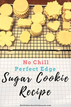 No chill, perfect edge, and delicious sugar cookie recipe! Perfect for cookie cutters and decorating with royal icing or frosting. No chill, perfect edge, and delicious sugar cookie recipe! Perfect for cookie cutters and Favorite Sugar Cookie Recipe, Sugar Cookie Recipe Easy, Sugar Cookie Royal Icing, Easy Sugar Cookies, Iced Cookies, Easy Cookie Recipes, Cookies Et Biscuits, Cookies With Royal Icing, Sugar Cookies For Decorating