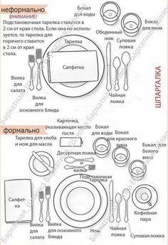 простая сервировка стола - Поиск в Google