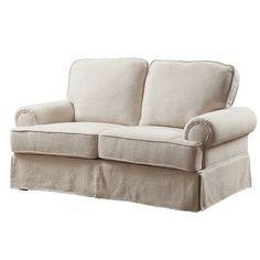 Sterling Slipcovered Sofa Cream Linen Rachel Ashwell