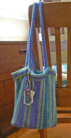 Tunisian bag - would look awesome in orange and turquoise with silver