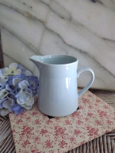 vintage ceramic pitcher / pale blue  by OutAndAboutVintageII, $6.00