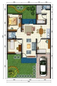 House Layout Design, Small House Layout, Minimal House Design, House Layout Plans, Minimal Home, House Layouts, House Plans, Home Design Floor Plans, House Blueprints