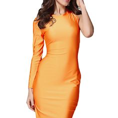 Fashionback Women's Slim Fit Without Hood Blouse Solid Fashion Dress ** Check this awesome image  : wedding dresses