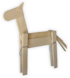"""clothespin horse, this could go with the new Eric Carle book, """"The Artist That Painted a Blue Horse."""""""