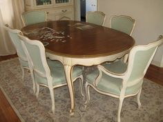 European Paint Finishes French Provincial Dining Set ~ …  Pinteres… Gorgeous French Provincial Dining Room Table Decorating Design