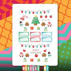 Kawaii Christmas Planner Stickers for your Horizontal/Vertical Erin Condren Life Planner,Happy Planner, or any planner! by MoogleyandMe on Etsy