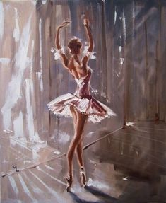 Monika Luniak - Paintings for Sale Ballet Drawings, Art Drawings, Dancing Drawings, Ballerina Kunst, Ballet Wallpaper, Ballerina Painting, Ballerina Drawing, Dance Paintings, Ballet Art