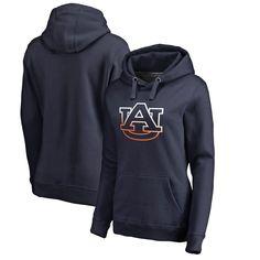 Auburn Tigers Fanatics Branded Women's Plus Sizes Gradient Logo Pullover Hoodie - Navy