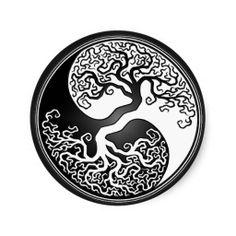 Yin Yang Designs | Yin Yang Tree Sticker