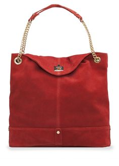 TOUCH - Suede shopper bag