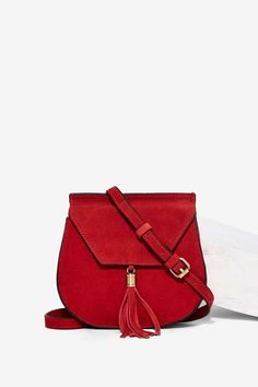 Nila Anthony Wild West Suede Bag - Red - Accessories | Bags + Backpacks | Valentine's Day | Valentine's Day
