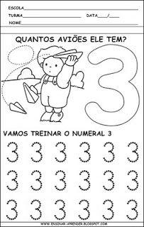 Atividade numerais treino numero 3