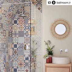 Define your style. Does your bathroom need a pop of colour? Mismatch any of our ceramic wall tiles to create an effortless boho chic feel to any bathroom. House Design, Bathroom Interior Design, Bathroom Decor Luxury, Diy Bathroom Decor, Small Bathroom Decor, Niche Decor, Bathroom Decor, Boho Bathroom, Small Bathroom Makeover
