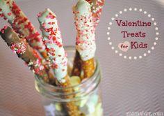 Valentine Treats & Edible Crafts for Kids   Valentines Day Ideas