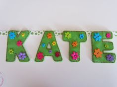 Name Banner Custom Felt Six to Ten Letters with by BasketBuzz, $25.00