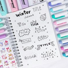 11 Simple Planner Doodles for Your Bullet Journal with step by step process Bullet Journal Inspo, Bullet Journal Planner, Bullet Journal Ideas Pages, Journal Fonts, Journal Layout, My Journal, Lettering Tutorial, Tittle Ideas, Stabilo Boss