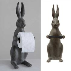 Rabbit / Hare Toilet Paper Holder Tissue Paper Holder, Woodland Critters, Antique Farmhouse, Farmhouse Style Decorating, Country Chic, Vintage Industrial, Hare, Accent Pieces, Toilet Paper
