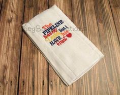 Burp Cloth The Pipeline has my Daddy but I by CheyBabyCreations, $7.00