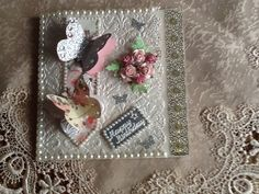 Pearl trim local 2.00 shop,embossing folder by cuttlebug,roses. From dusty attic,gold lace border from local craft shop and butterflies from butterfly punch