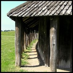 Mead Hall: Reconstructed Viking longhouse in Trelleborg.