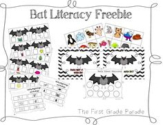 Bat Literacy (free; from The First Grade Parade)