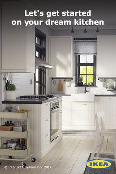 IKEA kitchens are designed to be simple enough to put together at home, but if you'd like some help we're with you every step of the way. Find ideas to get inspired, planners and tutorials to help you bring your kitchen to life, and of course the products to make your new kitchen complete. Any parts feel too tricky? Click to see our services.