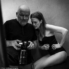 Behind the scenes: Famed lensman Peter Lindbergh shot the two-time Golden Globe winner for the 44th edition of the star-studded Pirelli calendar, which hits shelves in November