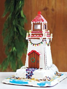The Cutest Gingerbread Lighthouse.... with Recipe.