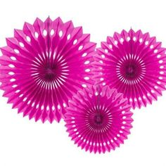Dark Pink Rosette Fans - These pretty rosettes add a splash of colour to any occasion. Use as a backdrop, hang from trees or mix with pom poms or balloons. Pom Pom Garland, Balloon Garland, Festival Themed Party, Aloha Party, Honeycomb Decorations, Crown Party, Pamper Party, Flamingo Party, Paper Fans