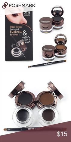 Waterproof Music flower Eyebrow & Eyeliner CreamNWT - Waterproof Music flower Eyebrow & Eyeliner Cream This is excellent waterproof eyeliner cream / eyebrow powder comes with both black and brown.  These are packaged in the cutest containers!  Previous buyers have been so pleased with this product on follow up. Music Flower Makeup Eyebrow Filler
