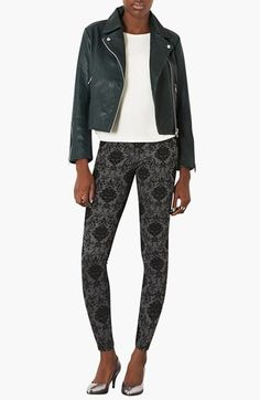 Topshop 'Caddy' Leather Moto Jacket | Nordstrom