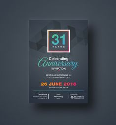 Can be used for multipurpose way like corporate anniversary, company anniversary, corporate party invitation, wedding anniversary, and other related anniversary invitation.
