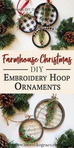 40 Farmhouse Christmas Ornaments Ideas In 2020 Christmas Ornaments Christmas Diy Christmas Crafts