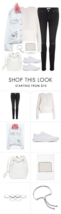 """Sem título #4958"" by fashionnfacts ❤ liked on Polyvore featuring Paige Denim, Carl Kapp, Vans, Mansur Gavriel, Forever 21 and Monica Vinader"