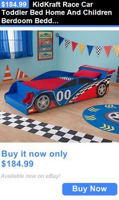 Kids Furniture: Kidkraft Race Car Toddler Bed Home And Children Berdoom Bedding Furniture Boys BUY IT NOW ONLY: $184.99