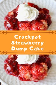 melted Instructions Spray inside of Crockpot with non-stick cooking Crockpot Dessert Recipes, Crock Pot Desserts, Dump Cake Recipes, Slow Cooker Recipes, Delicious Desserts, Cooking Recipes, Dump Cakes, Crockpot Dishes, Yummy Food