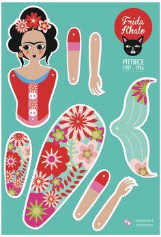 http://it.dawanda.com/product/76831563-Frida-Kahlo-Paper-Toy