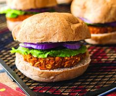 Smoky Sweet Potato Burgers....I've been making homemade bean burgers with a recipe I got out of the fire engine 9 recipe book....can't wait to try these sweet potato burgers! They look delicious!