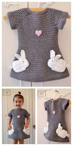 New knitting patterns baby cardigan girls Ideas Crochet Kids Hats, Baby Girl Crochet, Crochet Baby Clothes, Crochet Beanie, Easy Crochet, Crochet Cardigan, Baby Cardigan, Baby Jumper, Crochet Dresses