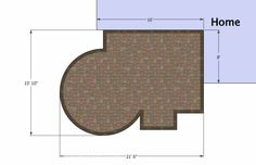 Small Courtyard Patio Design   290 sq ft   Download Installation Plan, How-to's and Material List @Mypatiodesign.com