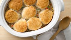 This biscuit-topped beauty delivers on pot pie flavor without the hassle.