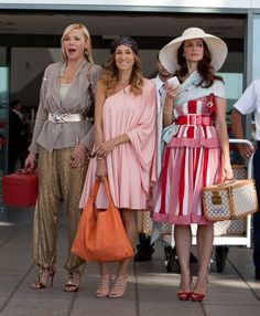 Sex and the city - I love that Charlotte had her initials on her luggage