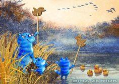 Сообщество иллюстраторов   Иллюстрация Рина З. - Они летят!... 2D, Другое. Растровая (цифровая) графика