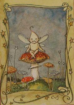 Mushroom Fairy by Charles van Sandwyk