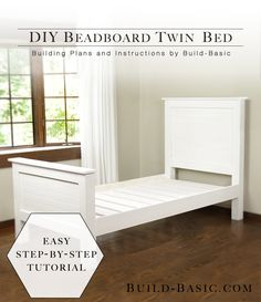Build a DIY Twin Bed with Beadboard Detail - by @BuildBasic www.build-basic.com…