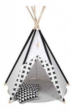 Sátor -gyerek kuckó - Fekete-Fehér , Ez a kedves kis sátor védelmet adhat a nap, a szél, de még az ágy alatti szörnyek elől is. Lehet egy kedvenc kis olvasókuckó, akár az univerzum irányítóközpontja, vagy egy csábító rejtekhely a szülőkkel, cicával vagy kutyussal történő játékhoz. :) Az indiánsátor egyszerű és kényelmes felállítását, valamint lebontását praktikus szerkezete biztosítja. Az ár kizárólag a sátorra vonatkozik, a kiegészítők (párna, szőnyeg) külön megvásárolhatók. A sátor anyaga…