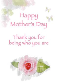 Free Printable Mothers Day Cards With Roses