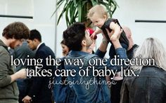 Loving the way One Direction takes care of Baby Lux